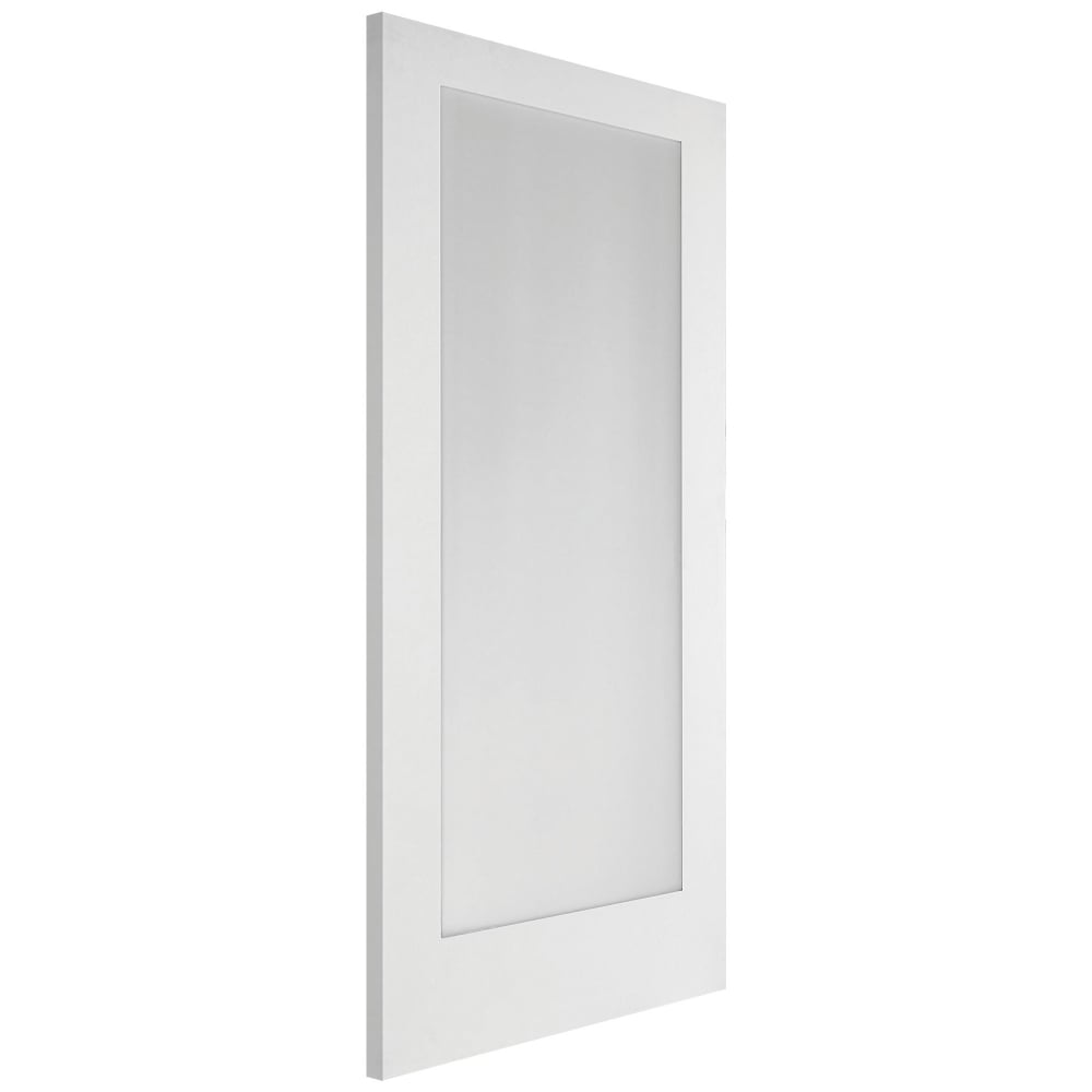 Jeld Wen Shaker White Primed Obscure Glass 1 Light