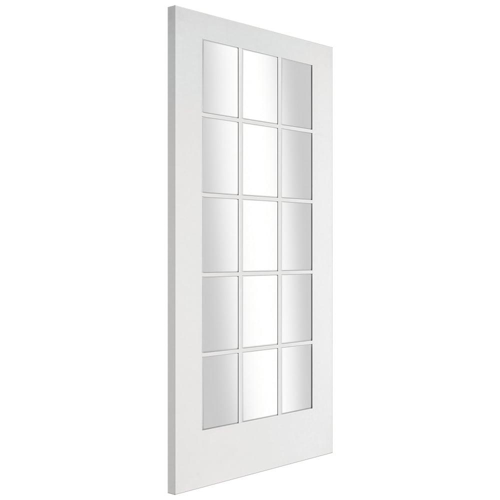 Jeld Wen Internal White Primed Shaker Glazed Door Leader