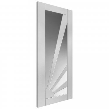 Internal White Primed Shaker Aurora Solid Door with Clear Glass (CAURG)