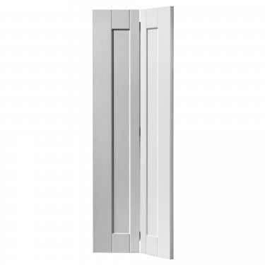 Internal White Primed Shaker Axis Bi-Fold Solid Door (SAXIBF)