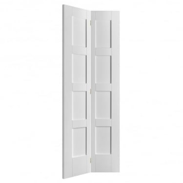 Internal White Primed Shaker Bi-Fold Door (IWPBF4PS)