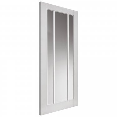 Internal White Primed Shaker Trinidad 3L Solid Door with Clear Glass (CTRI)