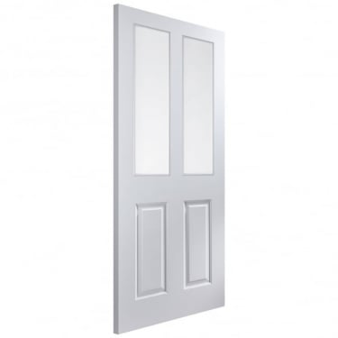 Internal White Primed Smooth Atherton 2L Door with Clear Glass (APATH+GCF)