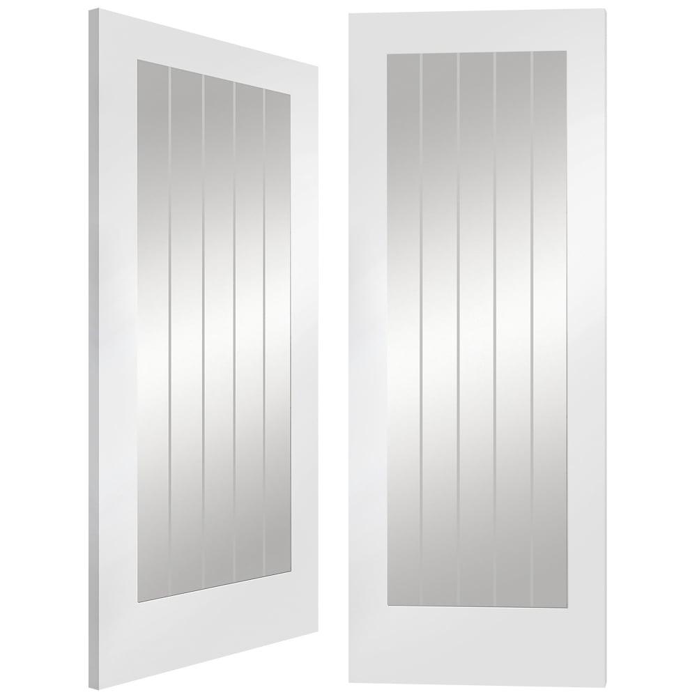 Xl Joinery Internal White Primed Suffolk Glazed Door Leader Doors