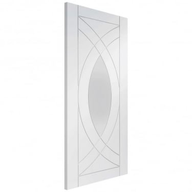 Internal White Primed Treviso 1L Door with Clear Glass (GWPTRE)