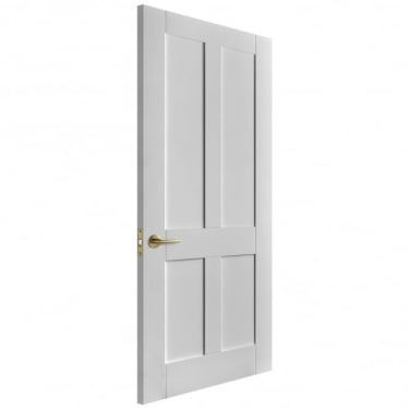 Internal White Primed Victorian Shaker FD30 Fire Door (IWPVICSFD)