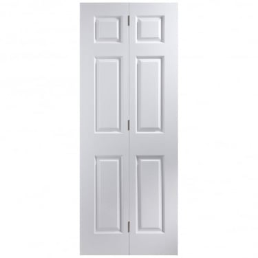 Internal White Primed Woodgrain Bostonian Bi-Fold Door (BIBT)