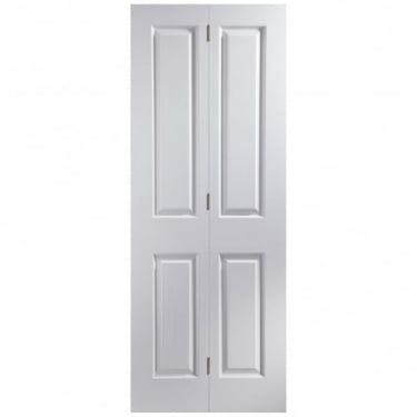 Internal White Primed Woodgrain Oakfield Bi-Fold Door (26BIOF)