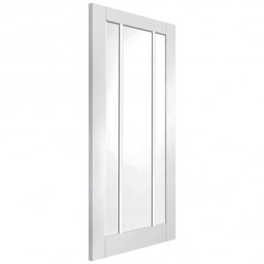 Internal White Primed Worcester 3L Door with Clear Glass (GWPWOR)