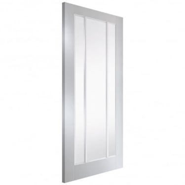 Internal White Primed Worcester 3L Door with Clear Glass (PRIWORC+GCF)