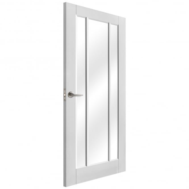 Liberty Doors Internal White Primed Worcester Door with Clear Glass