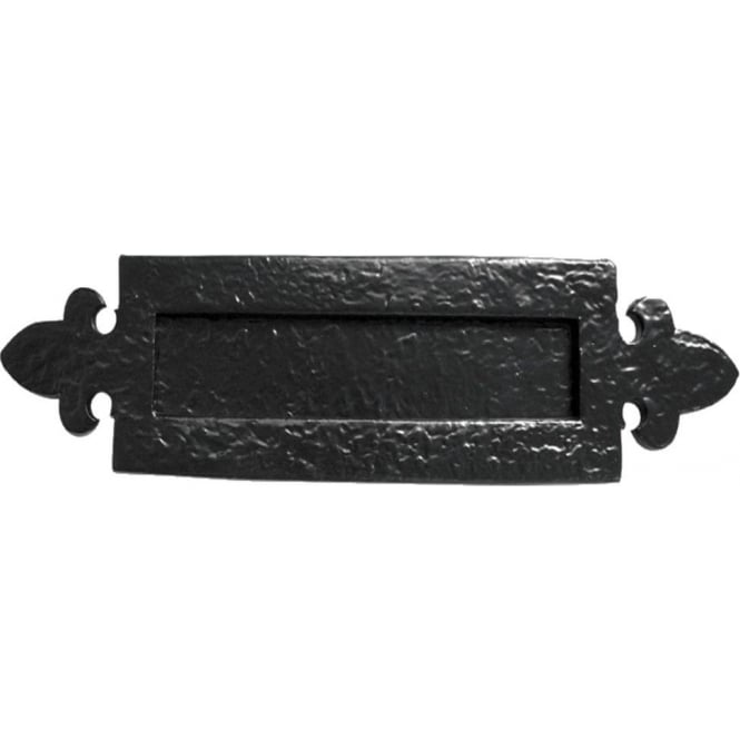 Frelan Hardware JAB13 Antique Black Fleur De Lys Letterplate