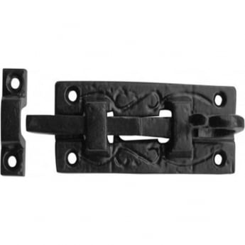 Frelan Hardware JAB25 Antique Black 100mm Straight Bolt