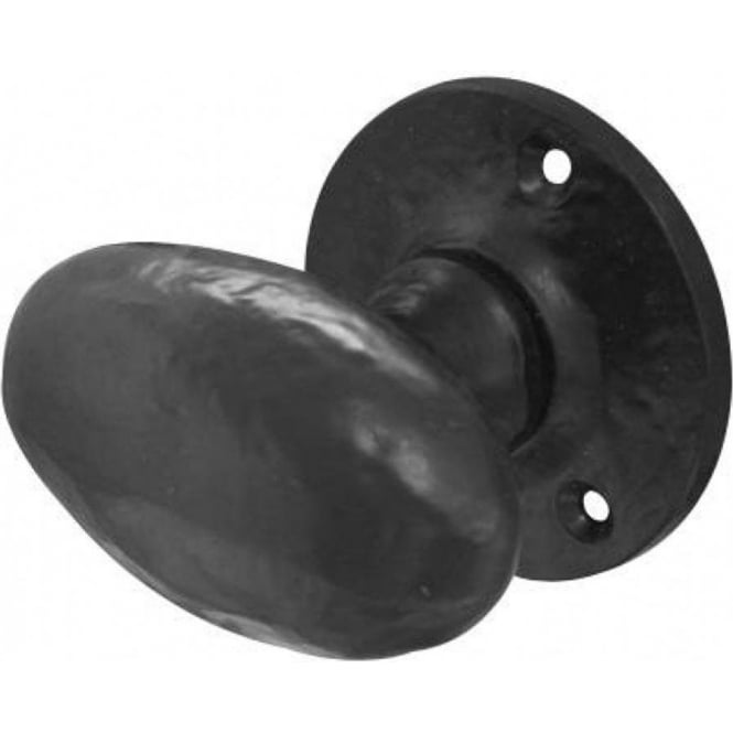 JAB48 Antique Black Oval Mortice Knob