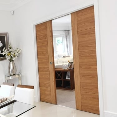 JB Kind Doors Double Sliding Pocket Door System