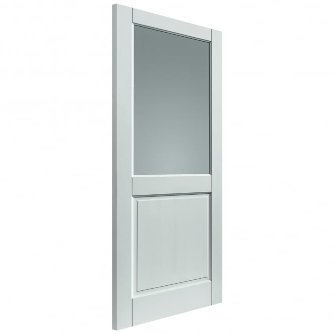 JB Kind Doors External Fully Finished White 2XG Extreme Door With Clear Glass
