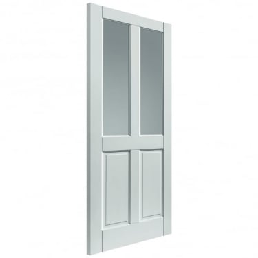 External Fully Finished White Colonial 4P/2L Extreme Door With Obscure Glass