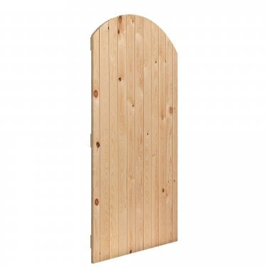External Softwood Boarded Oxford Arched Gate