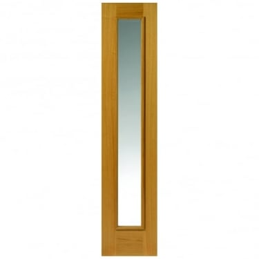 External Un-Finished Oak Therm-L Rhone Sidelight With Clear Glass
