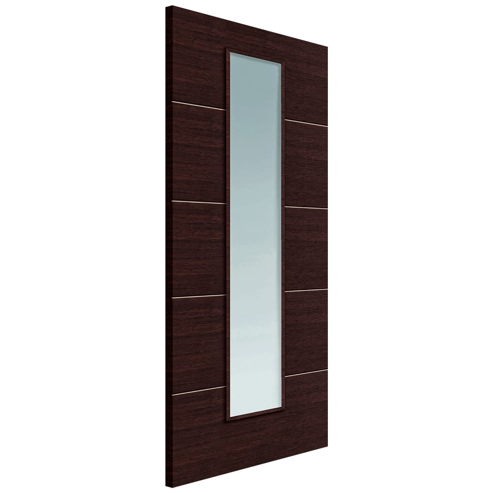 Jb kind eco wenge fully finished clear glass internal door for Eco doors