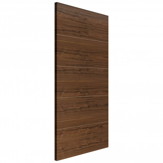 JB Kind Doors Internal Fully Finished Flush Walnut Lara FD30 Fire Door