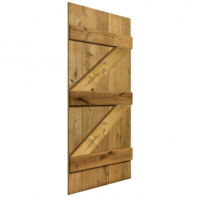 JB Kind Doors Internal Unfinished Rustic Oak Bracing Pack (ROLEDBRPACK)