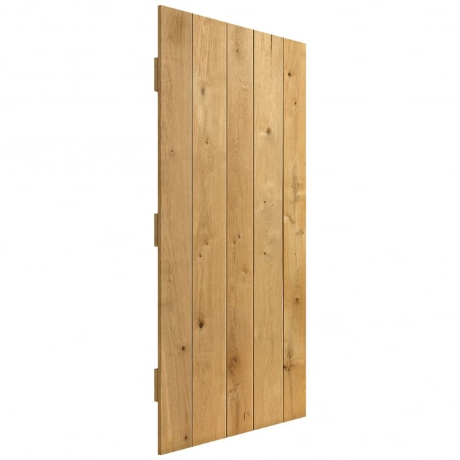 JB Kind Doors Internal Unfinished Rustic Oak Ledged Door