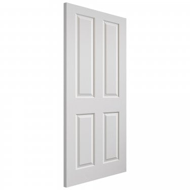Internal White Moulded Grained Canterbury Door