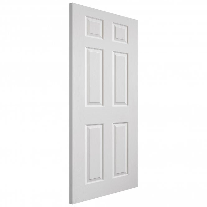 JB Kind Doors Internal White Moulded Grained Colonist Door