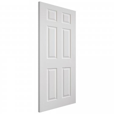 Internal White Moulded Grained Colonist Door