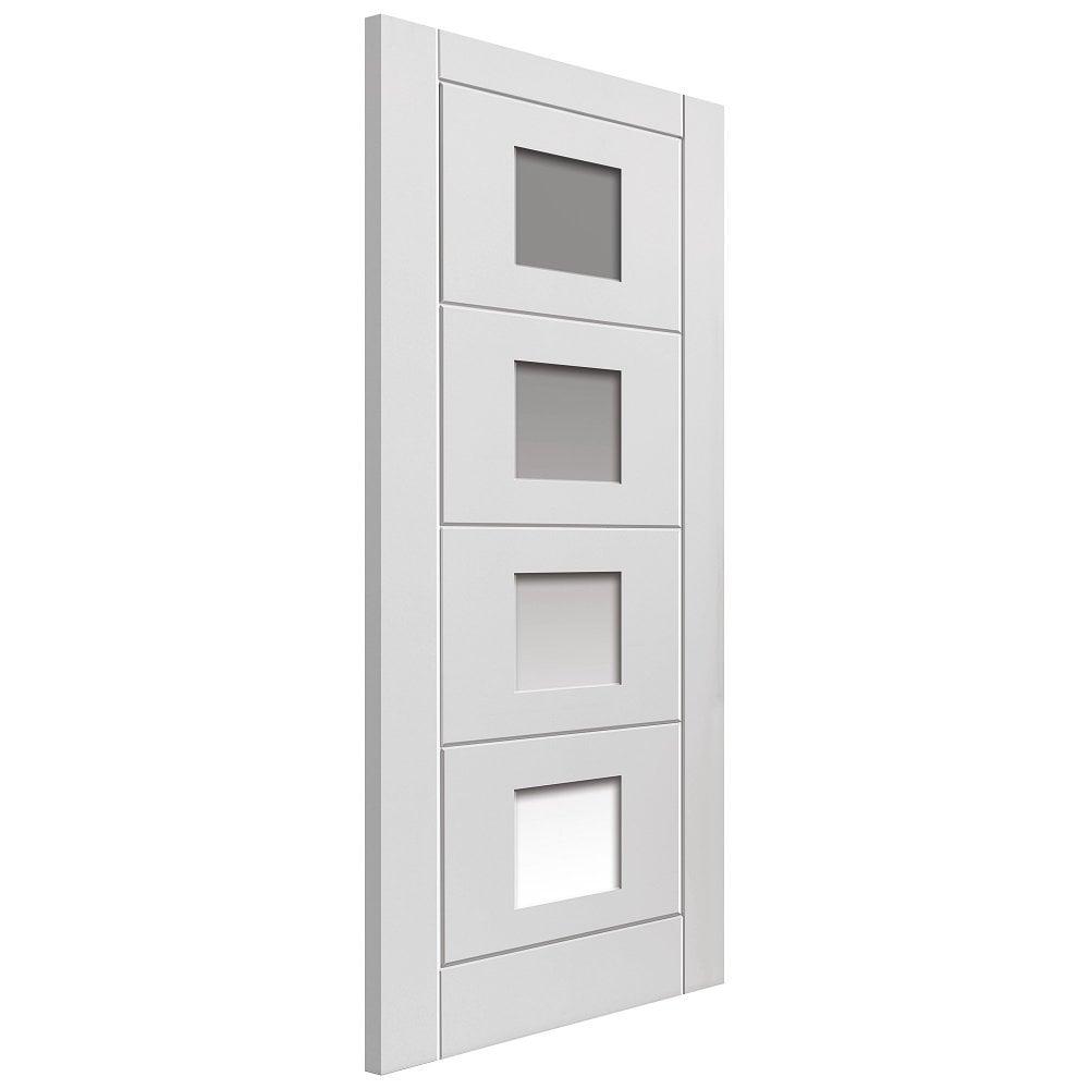 sc 1 st  Leader Doors & JB Kind Quattro White Moulded Clear Glass Internal Door   Leader Doors