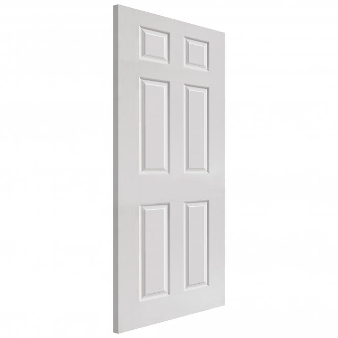 JB Kind Doors Internal White Moulded Smooth Colonist Door