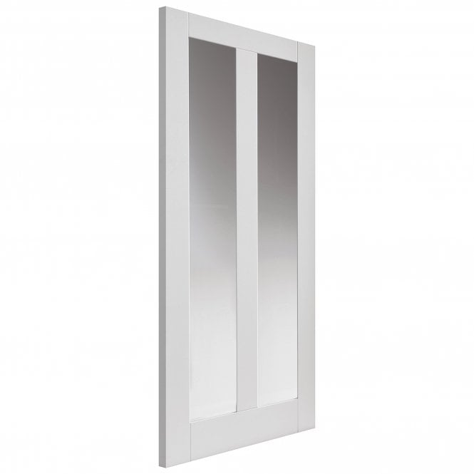 JB Kind Doors Internal White Primed Calypso Dominica Door With Clear Glass