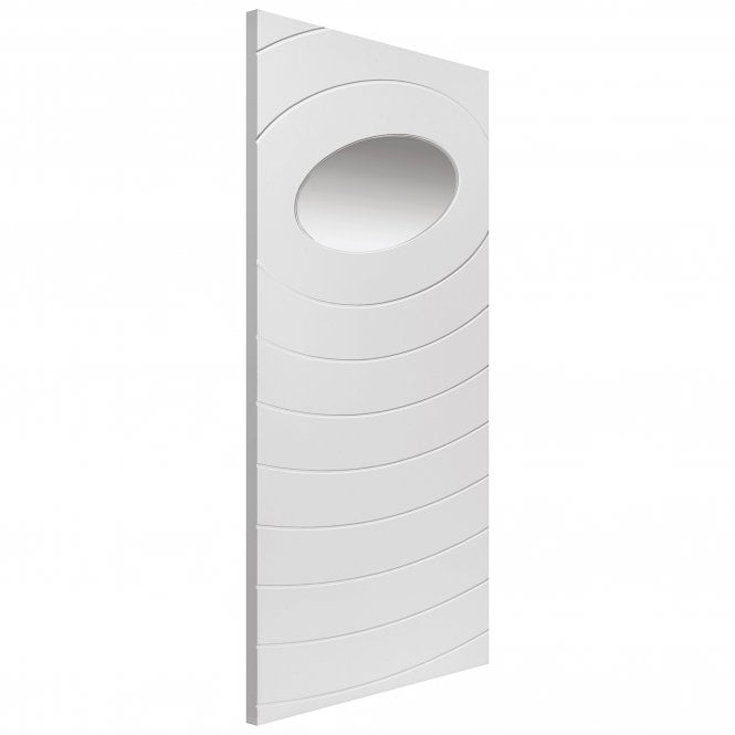 JB Kind Doors Internal White Primed Limelight Oriole Door With Clear Glass