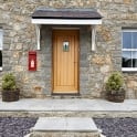 JB Kind External Un-Finished Oak Therm-L Mosel Door With Feature Glass