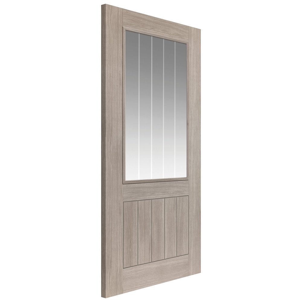 Internal Grey Fully Finished Laminate Colorado 1L Door with Etched Clear Glass  sc 1 st  Leader Doors & JB Kind Internal Grey Pre-Finished Colorado Glazed Door | Leader Doors