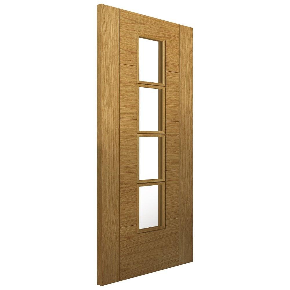 Internal Oak Fully Finished Cottage Bela 4L Solid Door with Clear Glass  sc 1 st  Leader Doors & JB Kind Internal Oak Pre-Finished Bela Glazed Door   Leader Doors