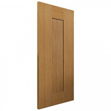 Internal Oak Fully Finished Shaker Axis Solid FD30 Fire Door