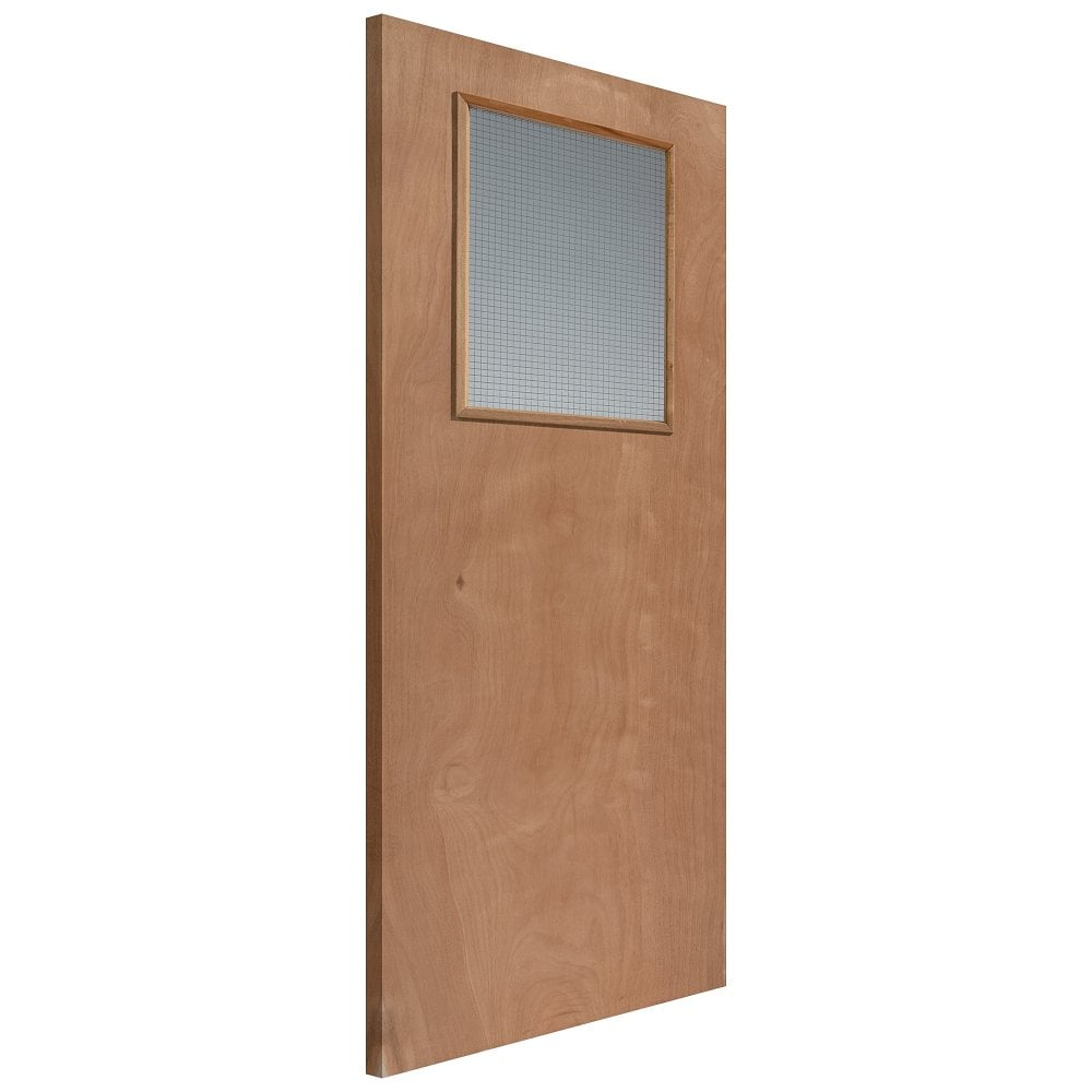 Internal Plywood Unfinished Paint Grade 1L Flush Solid FD30 Fire Door with Georgian Wired Glass  sc 1 st  Leader Doors & JB Kind Internal Plywood Unfinished Paint Grade Glazed Door | Leader ...
