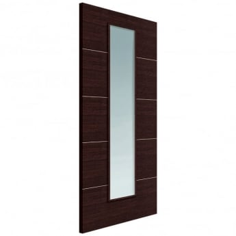 JB Kind Internal Pre-Finished Eco Wenge Door With Clear Glass