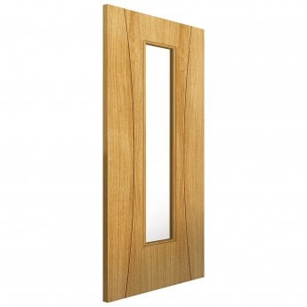 JB Kind Internal Pre-Finished Elements Oak Arcos Door With Clear Glass