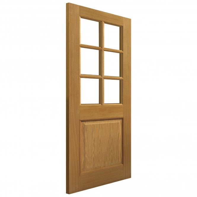 JB Kind Internal Pre-Finished Simply Oak Arden Door With Clear Glass