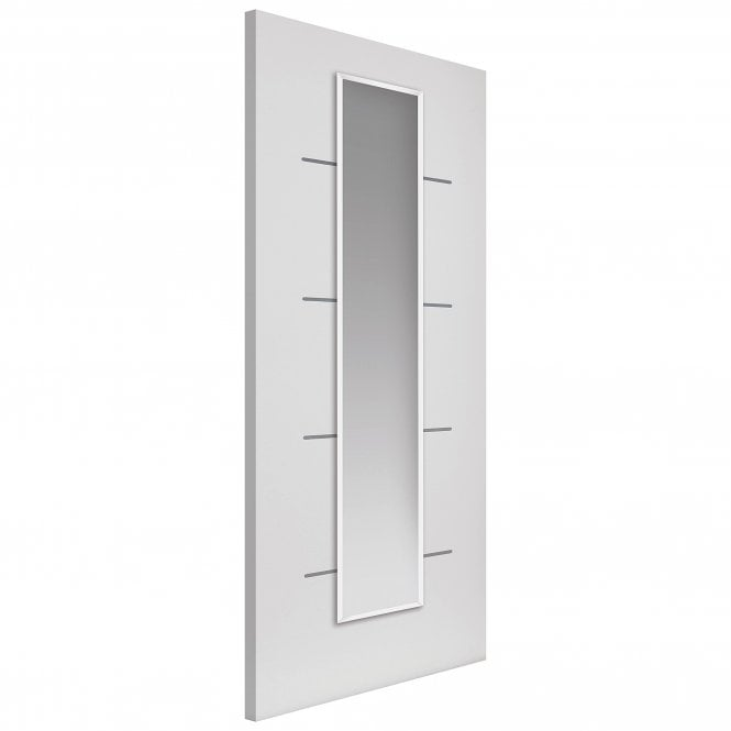 JB Kind Internal Pre-Finished White Eco Blanco Door With Clear Glass