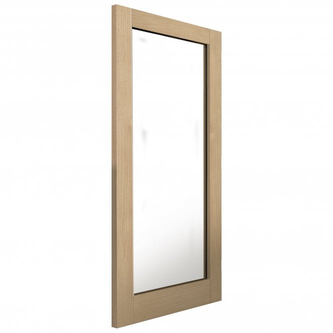 JB Kind Internal Un-Finished Montana Oak Fuji Door With Clear Glass