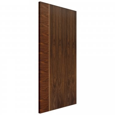 Internal Walnut Fully Finished Mayette Flush FD30 Fire Door