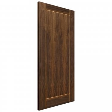 Internal Walnut Fully Finished Vina Flush FD30 Fire Door
