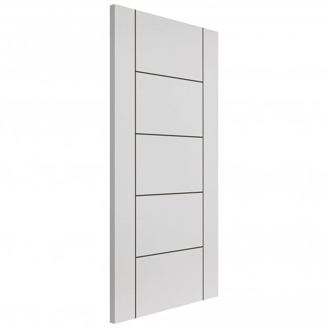 JB Kind Internal White Fully Finished Contemporary Linea FD30 Fire Door