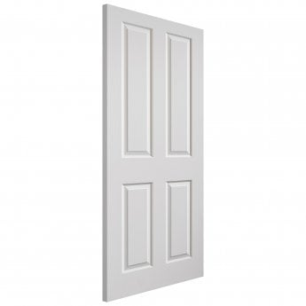 JB Kind Internal White Moulded Grained Canterbury Door
