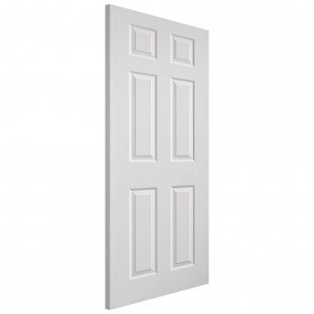 JB Kind Internal White Moulded Grained Colonist FD30 Fire Door