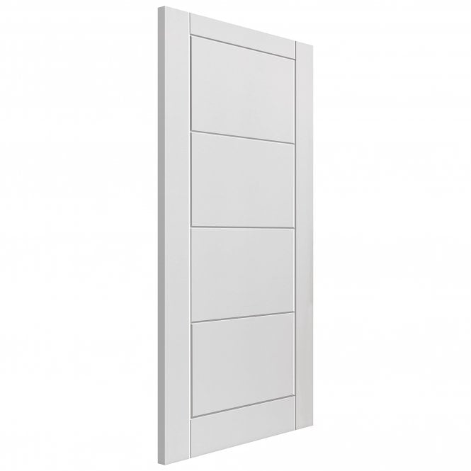 JB Kind Internal White Moulded Quattro FD30 Fire Door